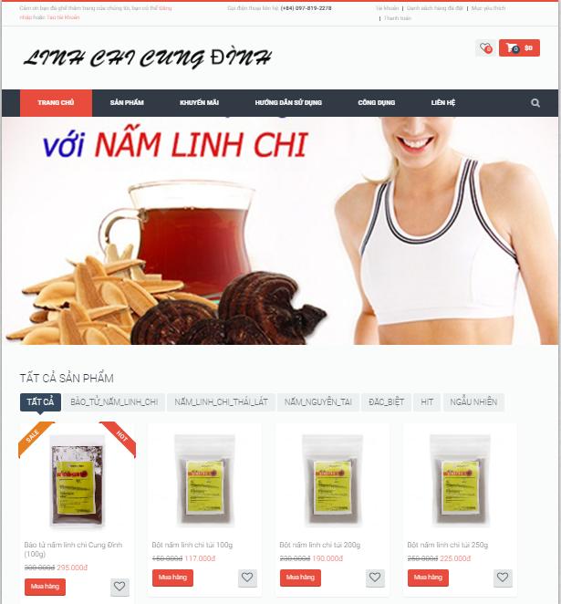 Web kinh doanh nam linh chi