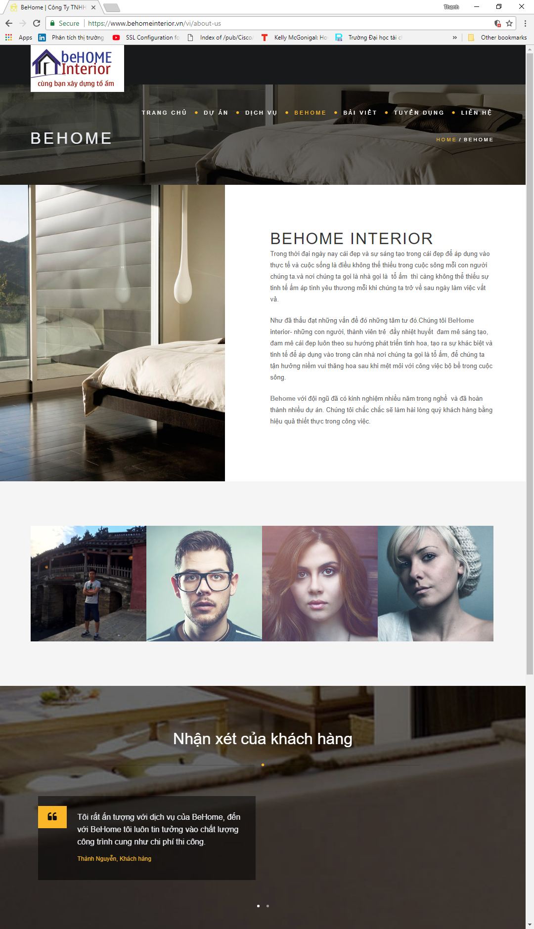 Website Công ty thiết kế nội thất